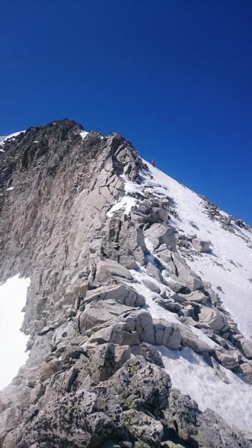Depuis le col supérieur de Lliterola, vue sur la montée au Perdiguere d'où nous venons