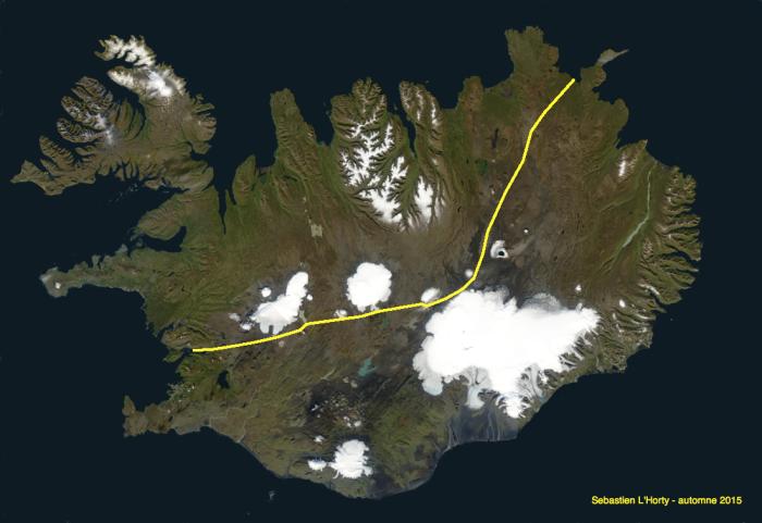Trajet Islande automne 2015