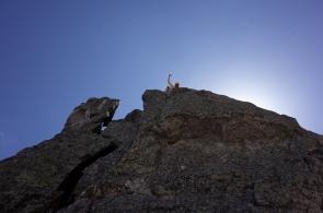 Au sommet de la Tour de Salenque