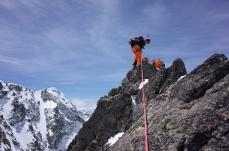 Au sommet de l'Aiguille Cadier
