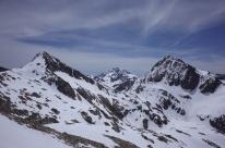 de gauche à droite: Pene d'Aragon, Vignemale, Grande Fache