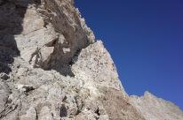 Le couloir de descente sous la Pointe Lacq