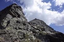Le sommet du Grand Quayrat au loin