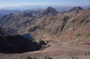 Estany d'Estats (le lac), Pic de Baborte (2933m) et Pic del Estanys (2955m)